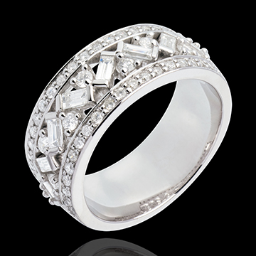 Anello Imperatrice oro bianco diamanti