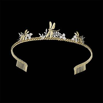 Tiara passeggiata immaginaria libellula di miele oro for Tiara di diamanti